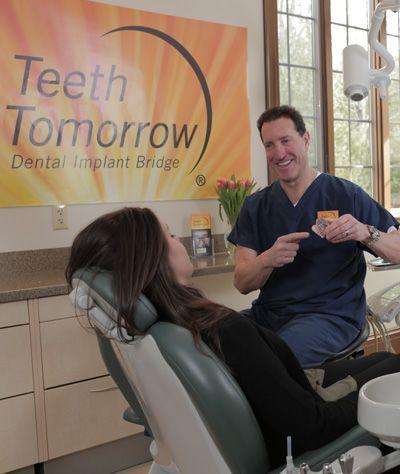Dental model being manufactured