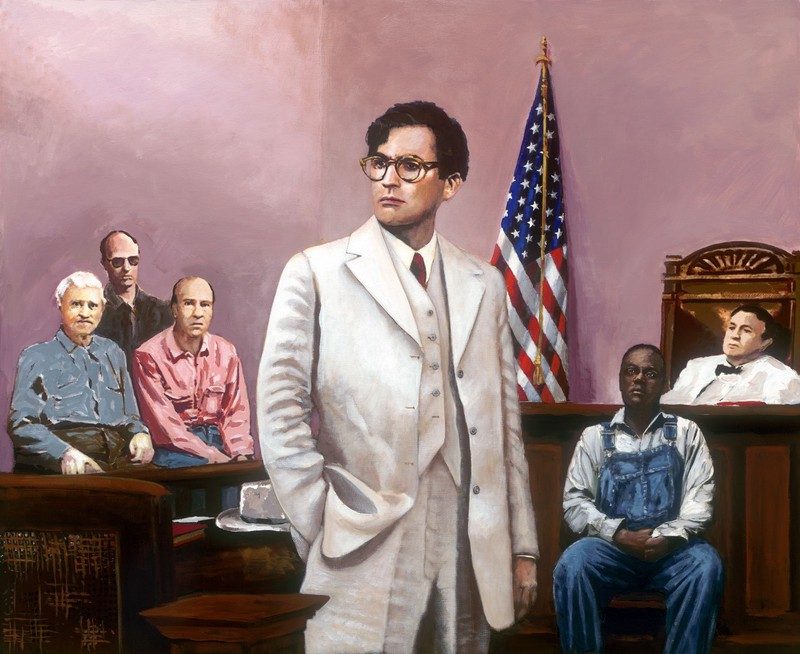 Portrait of Atticus Finch from the movie To Kill a Mockingbird.