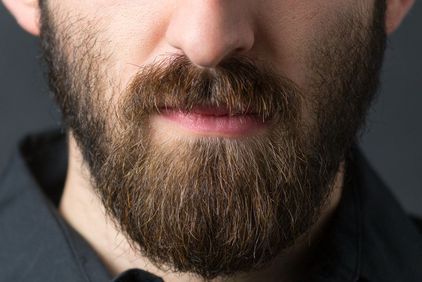 Close up of man's thick beard