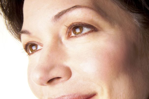 Close up of smiling woman's face