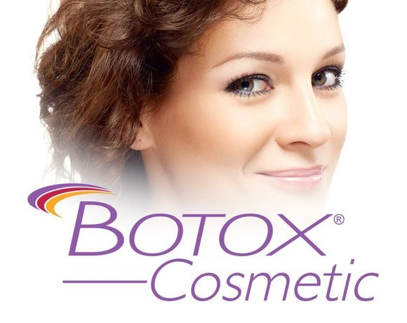 Photo of a woman with a botox logo