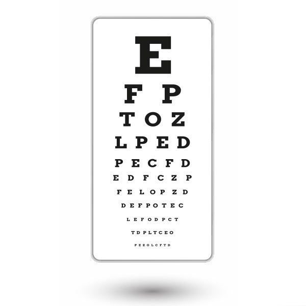 Eye chart after PRK
