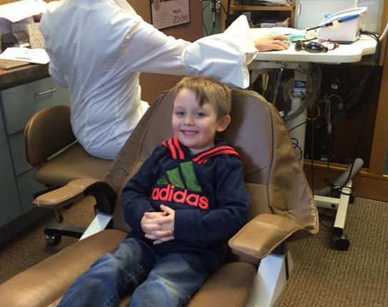 Patient of Bright Pointe Dental sitting in dentist chair