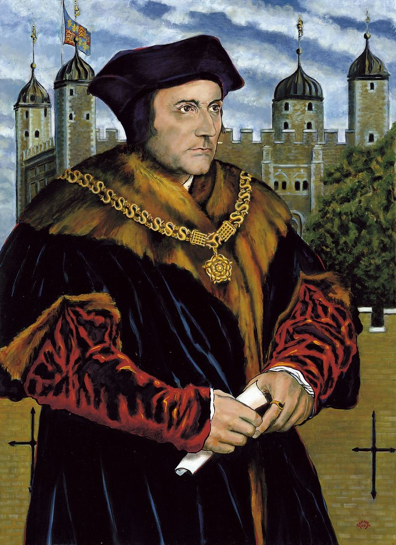 Portrait of Thomas More.