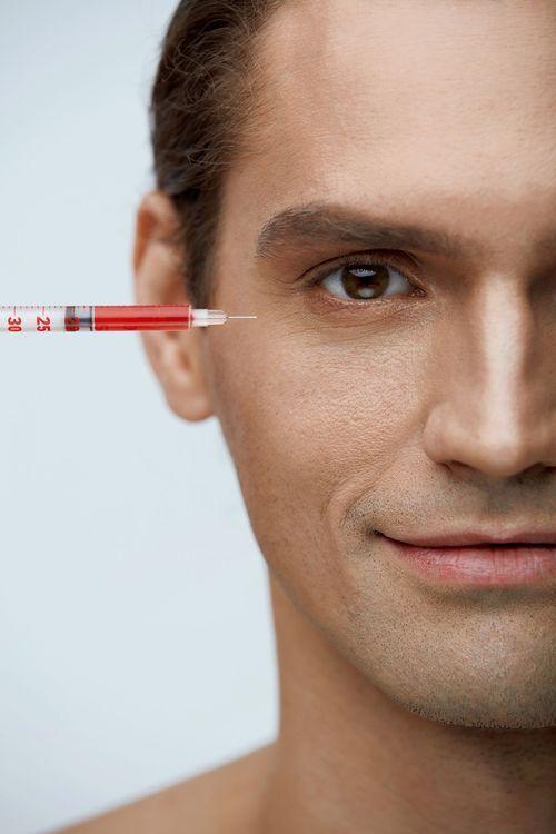 Close-up of a man's face.