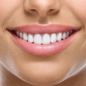 Close-up of a woman's beautiful smile