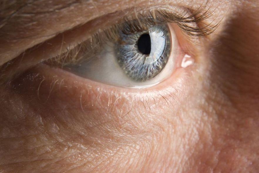 Close-up, Male Eye Looking at Camera