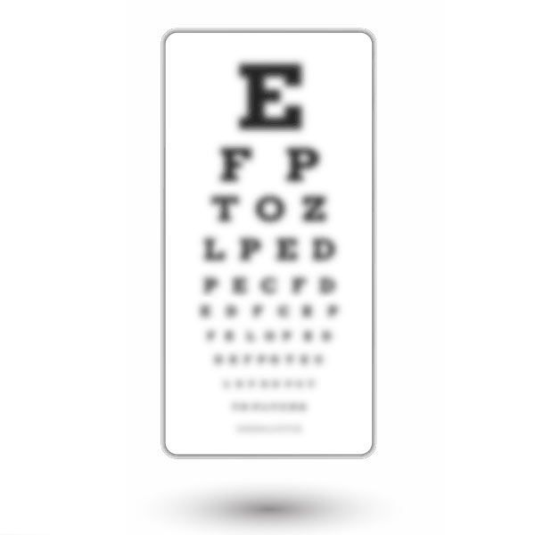 Eye chart before glasses