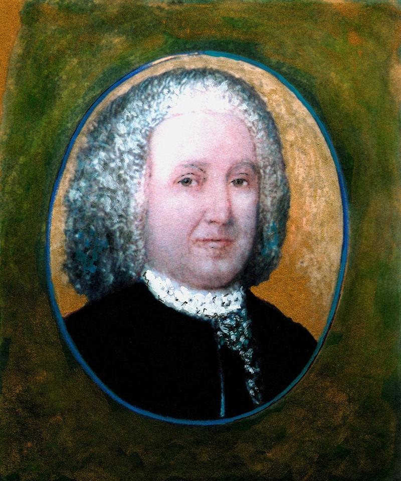 Portrait of William Blackstone.
