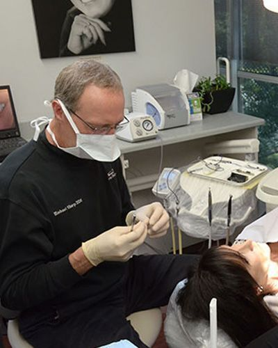 Dr. Michael Sharp treating a patient