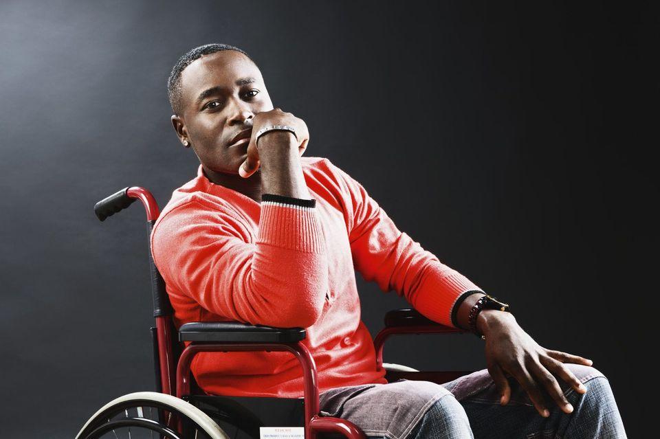 A man in a wheelchair