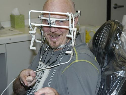 Dave Scott receiving TMJ Treatment