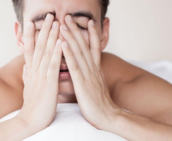 man with sleep apnea