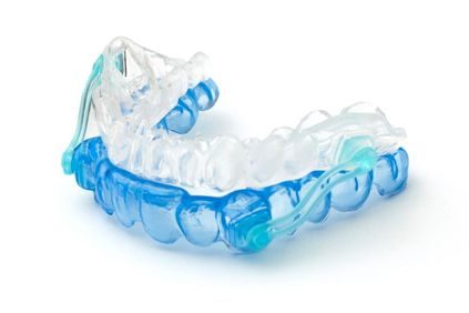 An oral appliance to treat TMD.