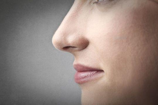 Close-up side profile of a female