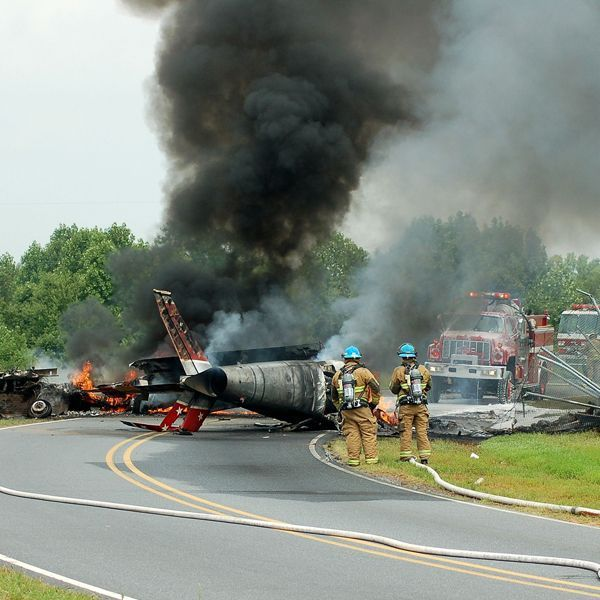Scene of airplane crash