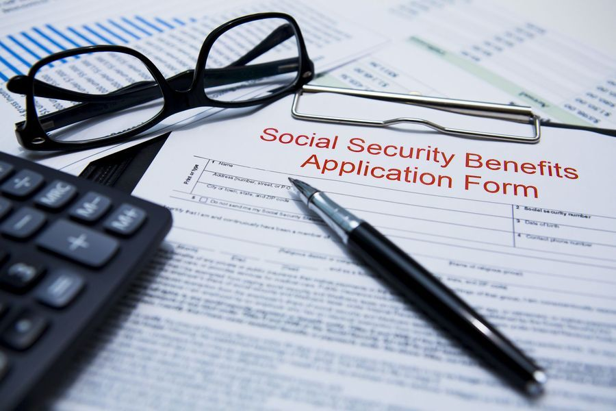 Photo of social security application forms