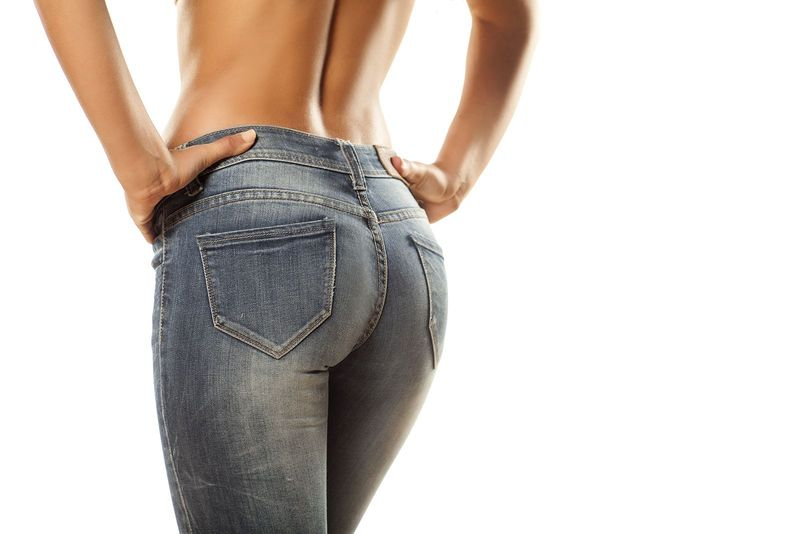 a woman's backside in jeans