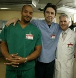 On the set of SCRUBS, , Facial Plastic Surgeon