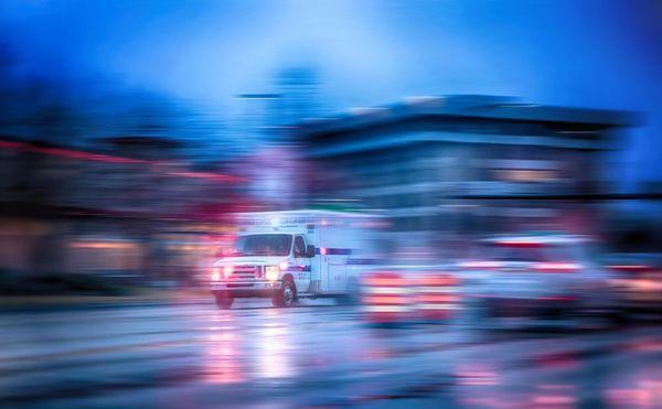 ambulance after DWI injury