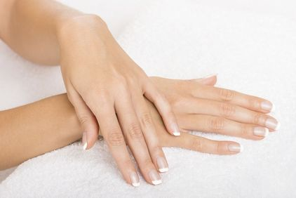 Woman's youthful-looking, smooth hands