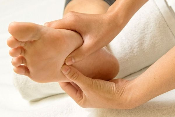 Image of reflexology on foot
