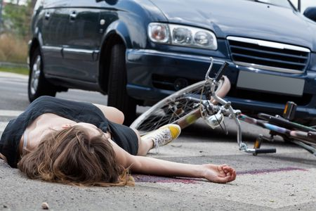 image of woman after bike accident