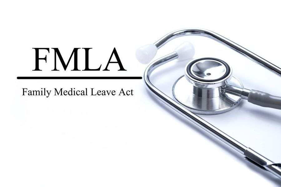 The FMLA logo and a stethoscope