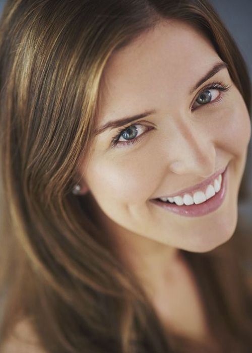 Smiling brunette with beautiful smile