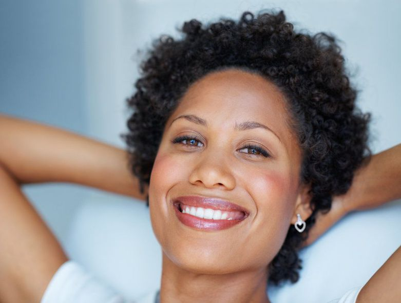 African American Woman Resting