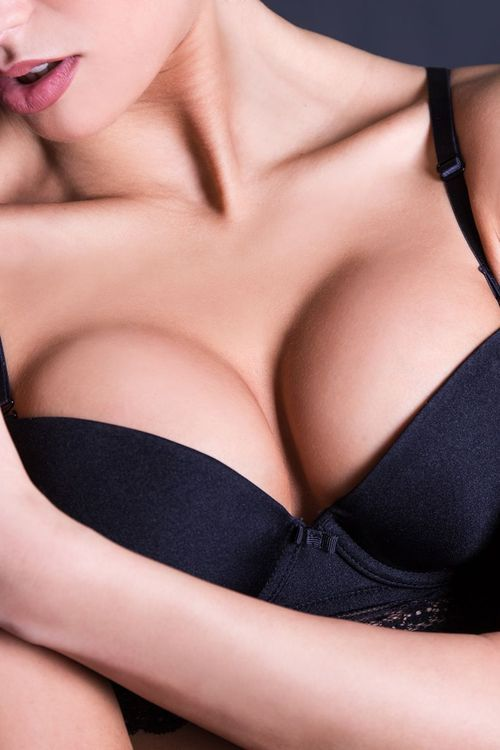 woman after breast augmentation in LIttle Rock, AR