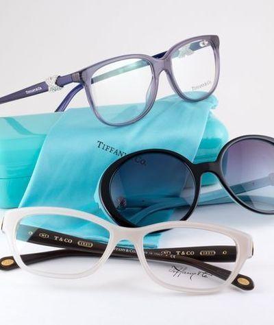 Stock image of designer brand eyeglasses