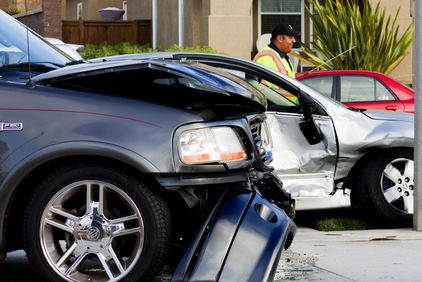 Cars that have been in an auto accident.
