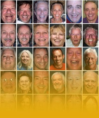 Collage of smiling dental patients