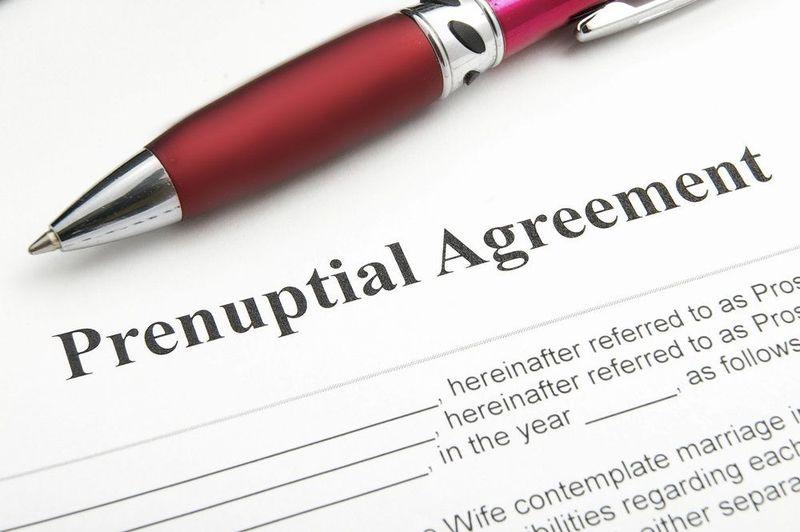 image of prenuptial agreement