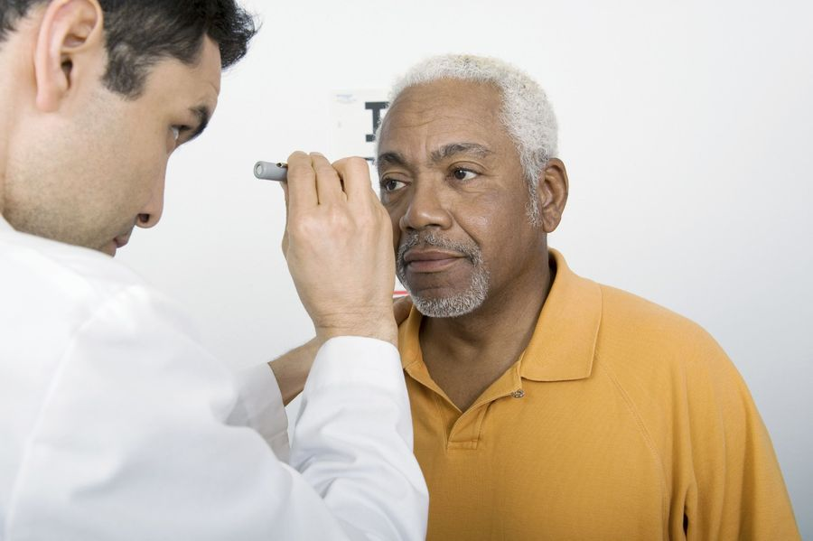 Man undergoing Intacs® consultation