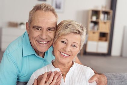 Image of smiling older couple