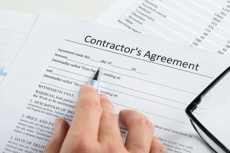 Document for contractor agreement