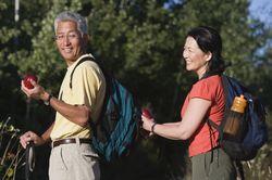 couple backpacking