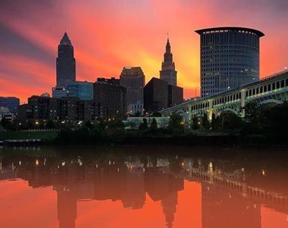Cleveland, OH, skyline