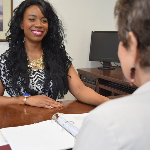Woman at Deason Garner Law Firm desk