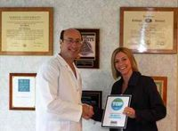 Dr. Wilderman Accepting a Top Dentists Award, Doylestown, PA
