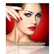 Facial rejuvenation illustration.