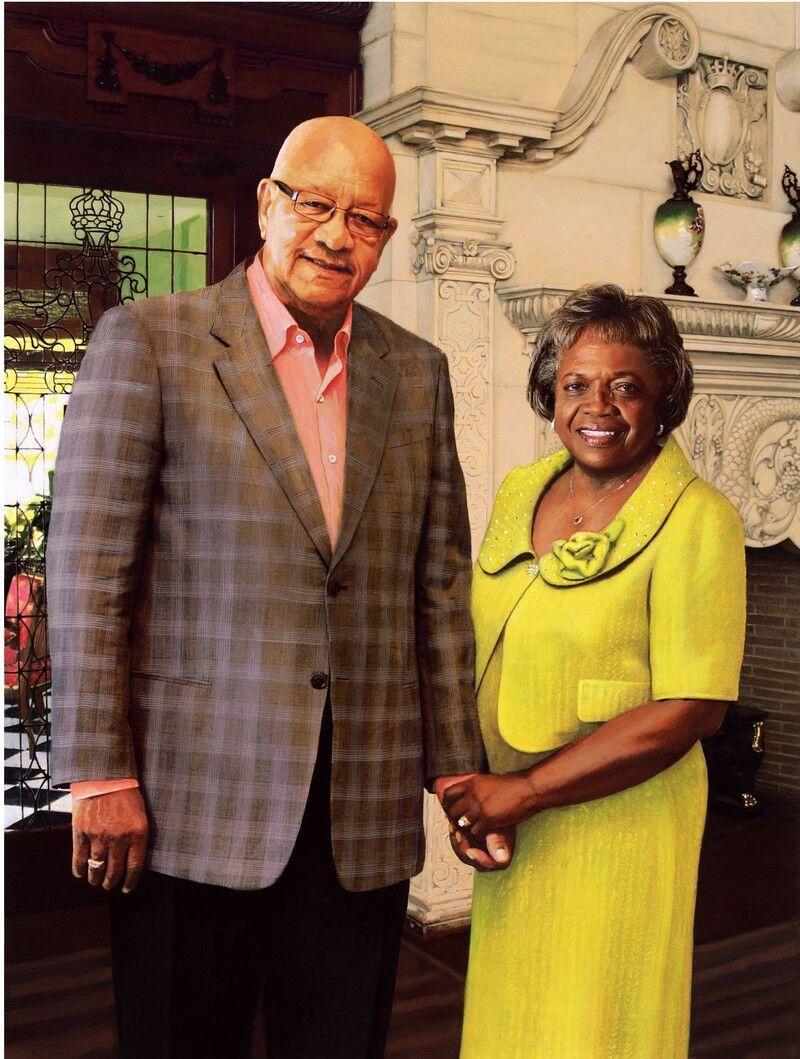 Portrait of James and Pauline Montgomery.