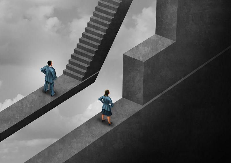 Illustration representing gender discrimination