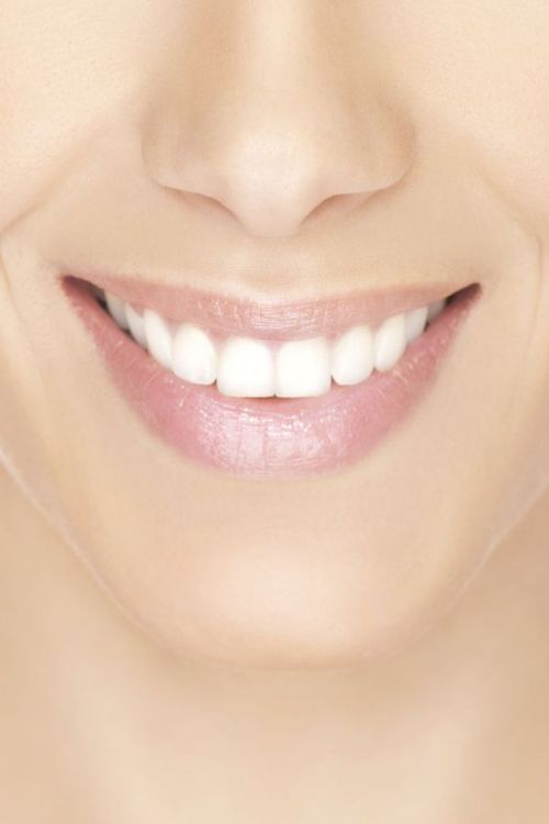 Photo of a smiling mouth