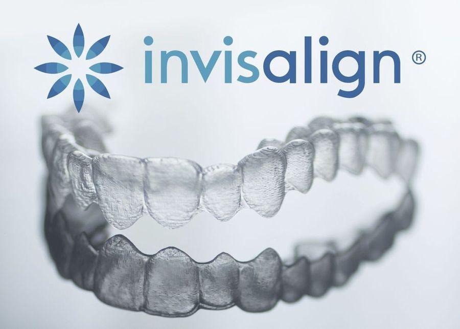 Invisalign® trays and logo