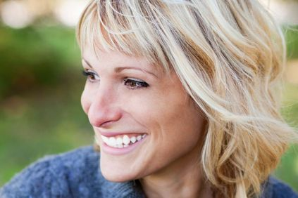 Photo of smiling blonde woman