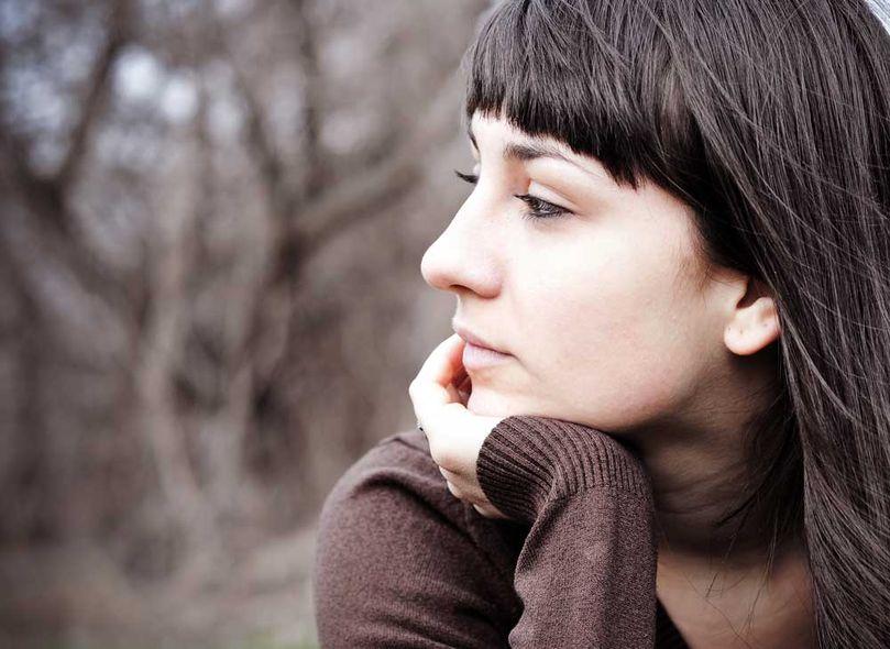 image of woman thinking about embryo donation