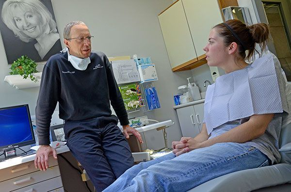 Dr. Michael Sharp in discussion with a patient